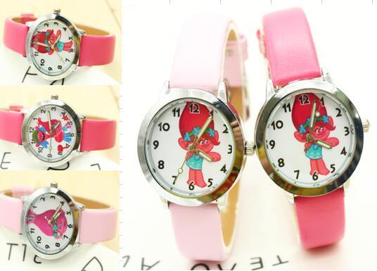 2017 Cartoon New Fashion Casual Quartz Wrist Watch Troll Watch Kids clock Boys s