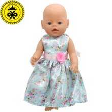 Small Flower Dress Suit Doll Clothes Fit 43cm Baby Born Zapf Doll Clothes Baby Best Birthday