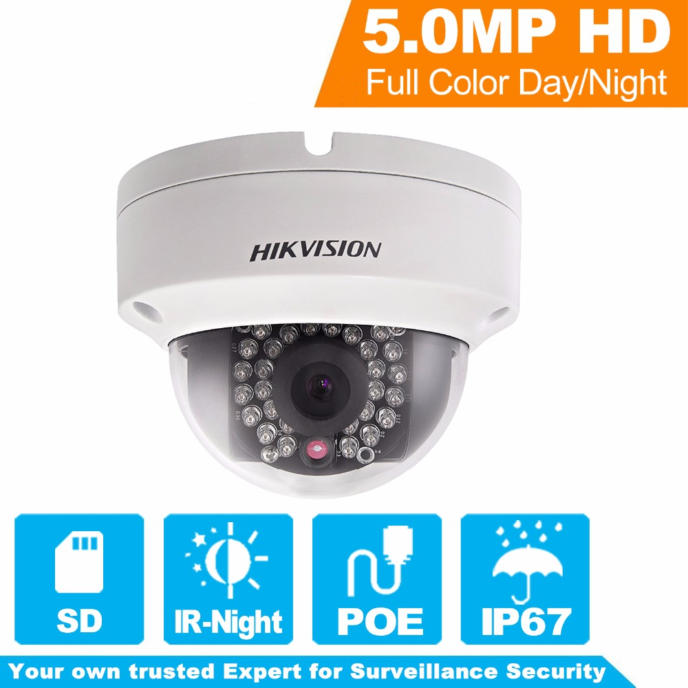 Hikvision Overseas Version 5MP IP Camera DS-2CD2152F-I Full HD PoE Dome network cctv Camera Replace DS-2CD2155F-I DS-2CD2155F-IS hikvision ds 2de7230iw ae english version 2mp 1080p ip camera ptz camera 4 3mm 129mm 30x zoom support ezviz ip66 outdoor poe