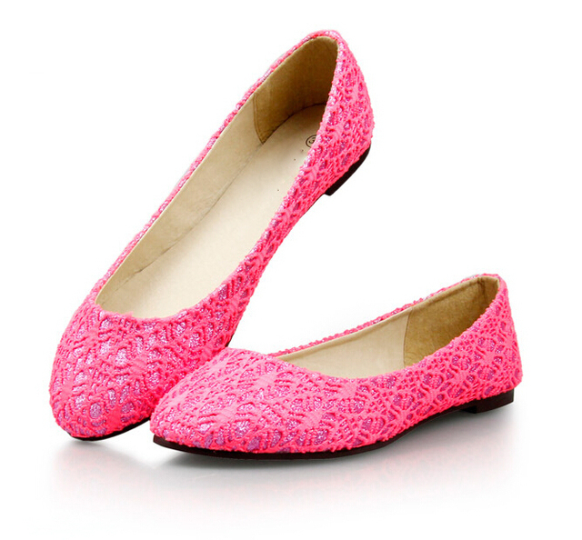 38804d05b4290 New 2015 summer women flats Shoes lace material flat shoes woman cut-outs  ballet flats metal pointed toe Mocassins