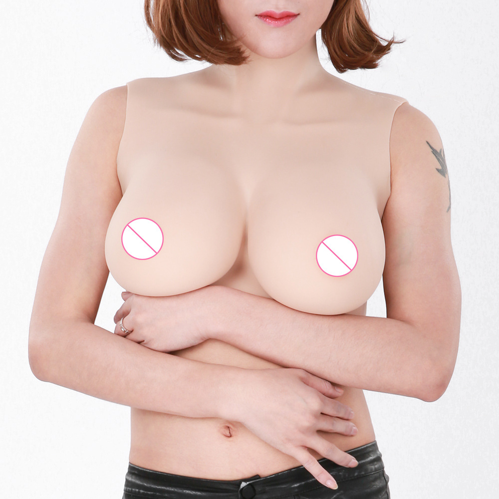 Top quality E Cup Realistic Silicone Breast Forms Artificial Boobs Enhancer Crossdresser vagina for man shemale Trandsgender tit