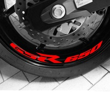High Quality Motocycle Wheel Sticker Inner Rim Decal Reflective Stickers Stripes for SUZUKI GSR 650 GSR650 for suzuki gsf650 gsf650s gsf1000 gsr 600 750 1000 gsr600 colorful motorcycles wheel stickers reflective rim moto stripe tape