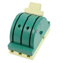 AC 380V 100A 3 Pole Double Throw Circuit Control Knife Disconnect Switch Green