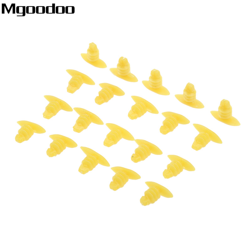 F57 200pcs Universal Auto Fasteners Replace Screws Weatherstrip Retainer Plastic Rivets Clip Fit For All Cars Yellow Clips in Auto Fastener Clip from Automobiles Motorcycles