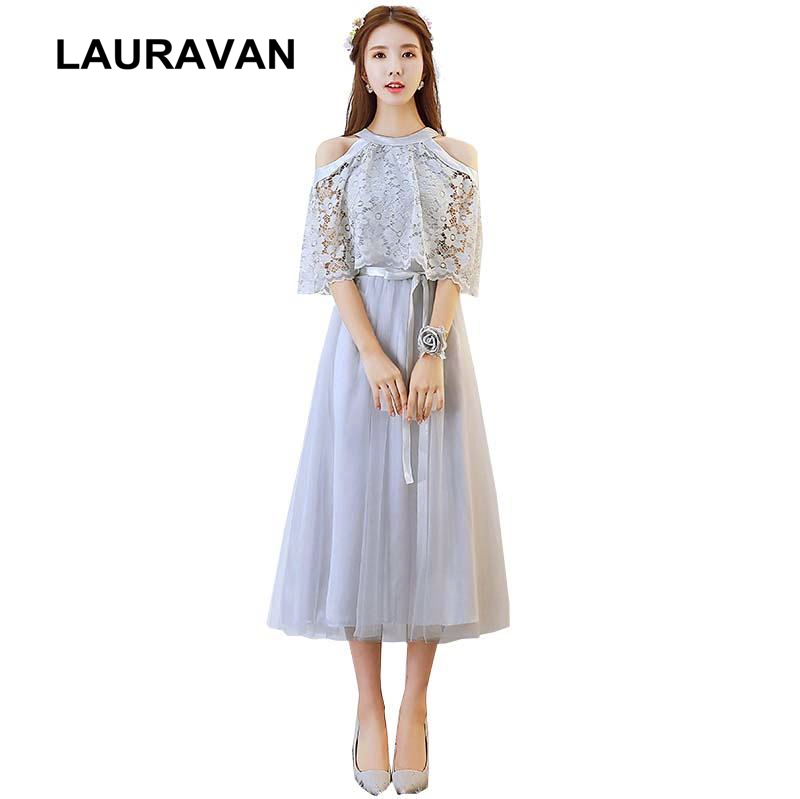 Women Occassions Gray Sexy Homecoming Princess High Fashion Dress Pretty Formal Bright Tea Length Party Dresses Ball Gown 2019