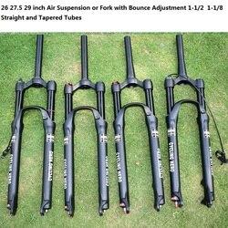 100 120MM regulacja skoku skoku mountain bike zawieszenie pneumatyczne zawieszenie wtyczka 1710g prosta rurka stożkowa rurka więcej niż FOX|Widelce rowerowe|   -