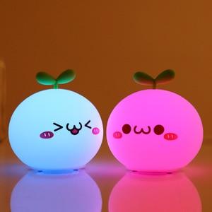 Night Light Lamp USB LED Soft Silicon Touch Sensor Cartoon 5V 1200 mAh 8 Hours Working Kids Cute Night Light BP-D-PPD-U(China)