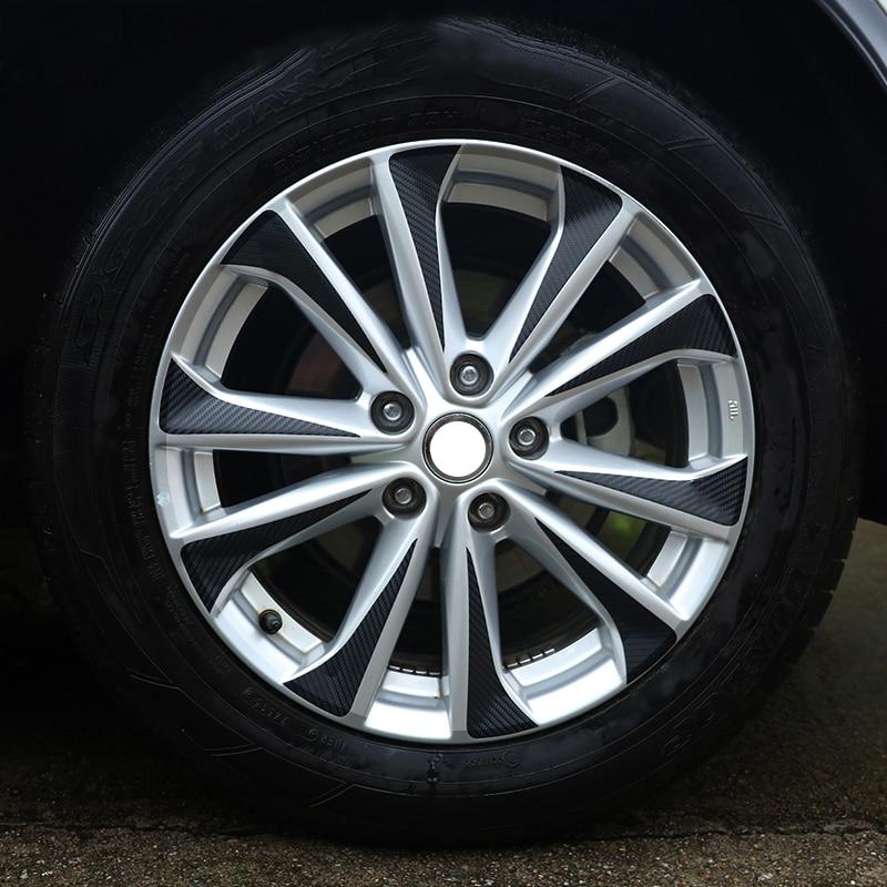 Black Carbon Fiber Vinyl Car Wheel Hub Stickers Rim Sticker Trim Decoration For Nissan Qashqai j11 2014 2015 2016 2017 40pcs R17