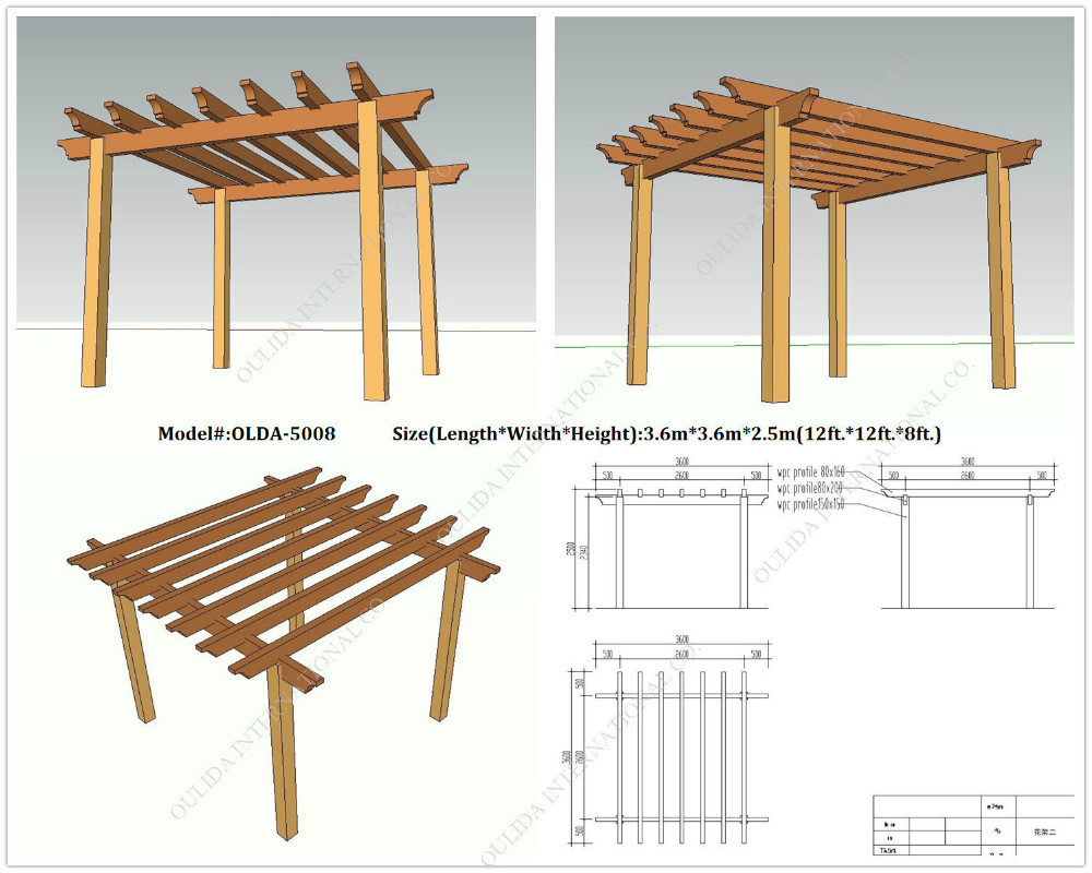 plastic wood yard pergola OLDA 5008 12ft.*12ft.*8ft.-in Arches, Arbours,  Pergolas & Bridge from Home & Garden on Aliexpress.com | Alibaba Group - Plastic Wood Yard Pergola OLDA 5008 12ft.*12ft.*8ft.-in Arches