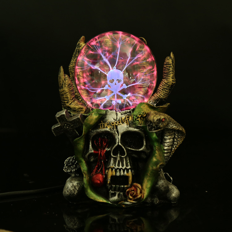 Devil Skeleton hand Electrostatic Plasma Ball Sphere Light Magic Crystal And holiday Lamp Household/Office Desktop Decorations