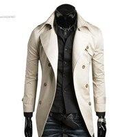 2013 Men S Stylish Double Breasted Jacket Long Trench Coat Windbreak Free Shipping 22