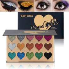 15 Colors Diamond Glitter Eyeshadow Palette Waterproof Professional Shimmer  Make up Beauty Pigment Cosmetics