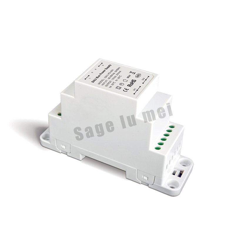 LTECH DALI-PS-DIN;DALI Bus Power supply(DIN Rail);100-240VAC 50/60Hz input,15VDC 200MA output DALI Dimming Driver for LED Lights