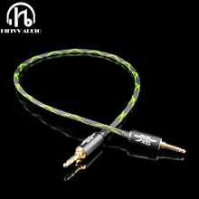 Hifivv audio hi end 3.5mm jack cable 3.5mm to 3.5mm Male plug Line In Car Aux Cable headphone Amplifier