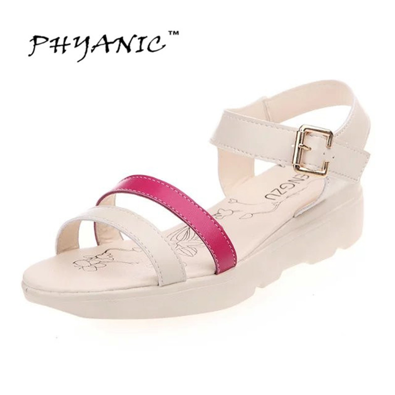 PHYANIC 2017 Women Platform Shoes Summer Style Ladies Sport Sandals Casual Mesh Breathable Shoes Comfy Wedges Sandals Women phyanic 2017 gladiator sandals gold silver shoes woman summer platform wedges glitters creepers casual women shoes phy3323