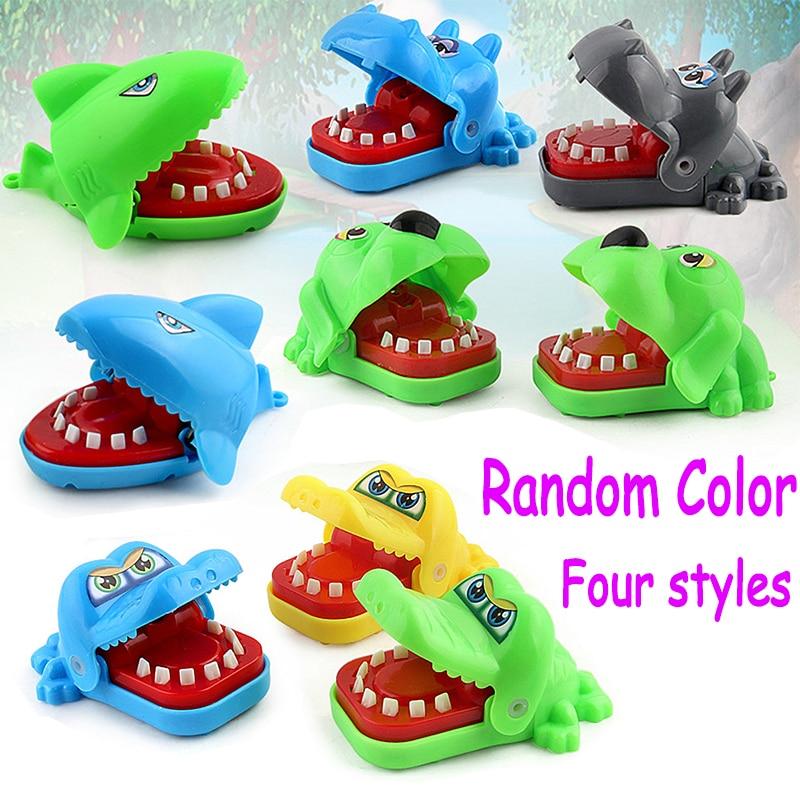 Crocodile Shark Mouth Dentist Bite Finger Game Novelty Jokes Kids Cartoon Family Trick Funny Game Toy For Children Gift