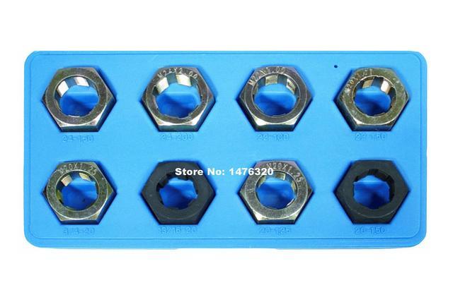 8 UNIDS Universal Automotriz Set De Reparación de Roscas Para Drive Ejes de Hélice AT2236