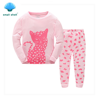 Samll Shell 2016 Autumn Winter Style Children Kids Clothing Sets Baby Girls Clothes Suits Leisure Wear