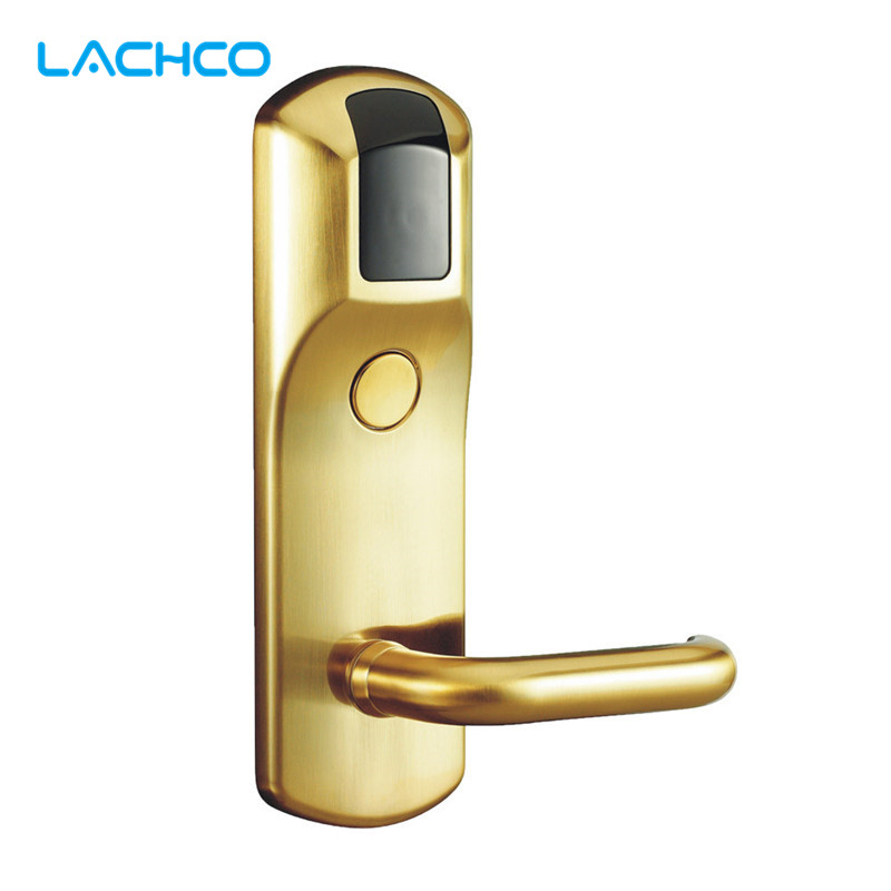 LACHCO Electronic Card Lock RFID Card Door Lock For Home Office Hotel Room  L16042SG electronic lock for hotel door hotel lock rfid electronic hotel lock magnetic card 01y