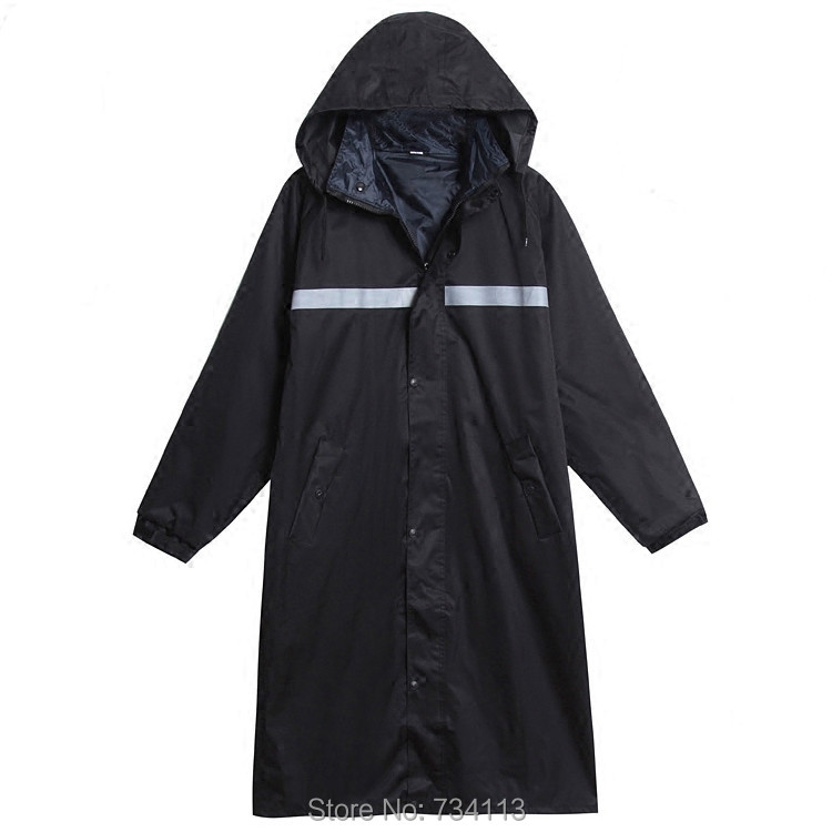 High quality raincoat thicken durable Long Outdoor Waterproof Rain Coat Police Working RainCoat Suit Motercycle poncho 4XL 185cm