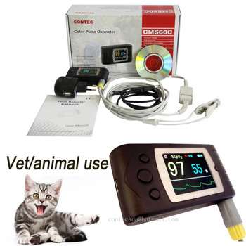 Vet pulse oximeter blood oxygen saturation SPO2 monitor pulse rate +PC software