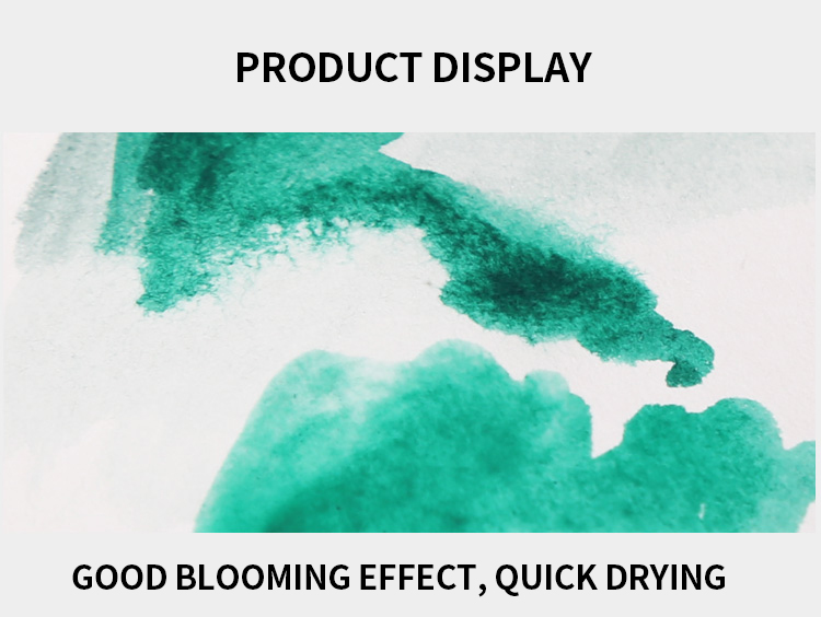 pintura de cor de água sólida com