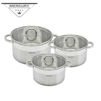 Quecksilber Haus 6PCS S/S Küche Kochen Kochtopf Auflauf Topf Sets Kochgeschirr Gerichte mit Induktion Herd Geschirr