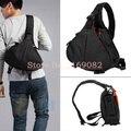 Negro Moda Casual diagonal Mensajero K1 DSLR CAMERA Bag Hombro Carry Case Para 600D 5D2 60D 7D D600, para D90 D7000 D700 D60