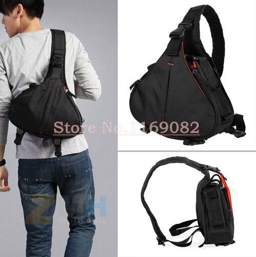 Schwarz Mode Lässig diagonal DSLR Kamera Tasche Tragetasche Schulter Messenger K1 Für 600D D600 7D 5D2 60D, für D90 D60 D700 D7000