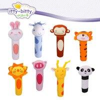 Hot Itty Bitty 13cm Baby Rattle Stuffed Plush Doll Toy BIBI Bar Stick Pig Animal Squeaker