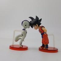 Dragon Ball Z Goku Freeza Action Figure 70mm Dragon Ball Super WCF Goku Freeza Collectible Figurine Toys DBZ