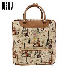 c5a6d0880d WEIJU Large Capacity Women Print Travel Bag 2017 New PU Leather Ladies  Luggage Waterproof Handbag Casual Travel Bags