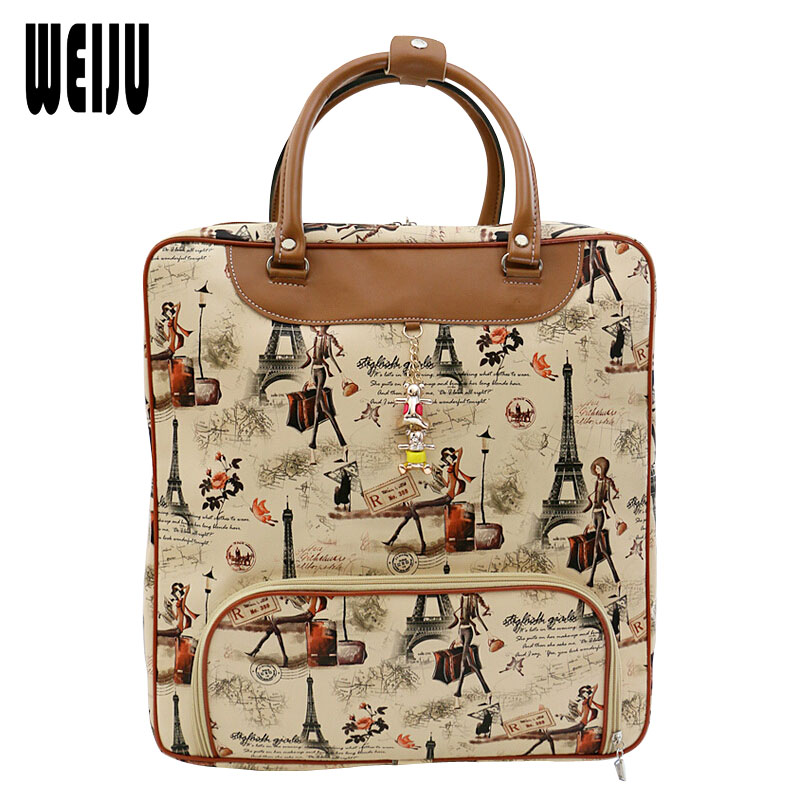 Popular Women Leather Luggage Bags-Buy Cheap Women Leather Luggage ...