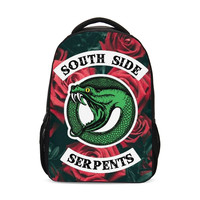 Riverdale South Side Serpents Jughead Funny Pack Women Packs Boys Girls School Shoulder Bags Bagpack Mochila Mujer Bolsa Escolar