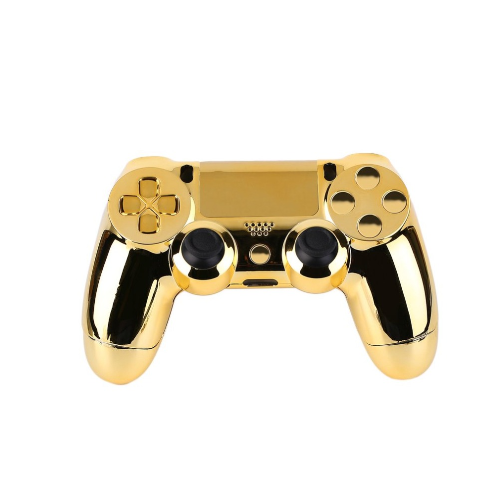 Full Housing Shell Case Skin Cover Button Set With Full Buttons Mod Kit Replacement For Playstation 4 PS4 Controller Gold