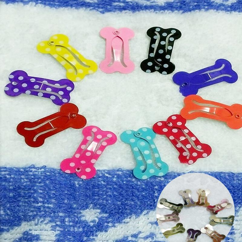 Pets 10PCS Puppy Hair Clip Bone Design Dog Hairpins Animal Hair Body Care Accessories