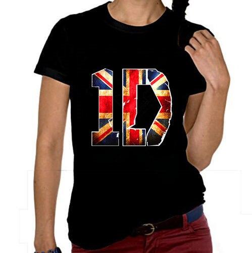 New 2016 Summer Women s T-Shirt UK ONE DIRECTION Band 1D Logo Girls Casual  Tee Dress Classic Top Tee custom shirt size XS-2XL db932a123840