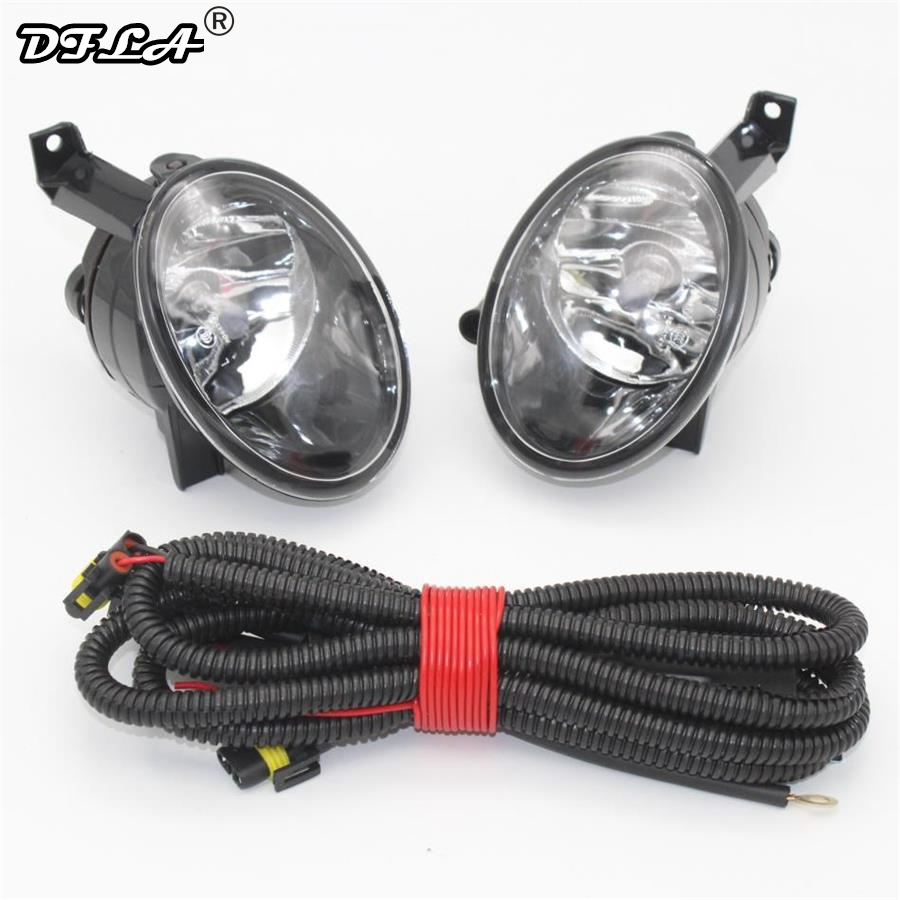 Car Light For VW Tiguan 2012 2013 2014 2015 Car-Styling Front Halogen Fog Light Fog Lamp + Wire right side for vw polo vento derby 2014 2015 2016 2017 front halogen fog light fog lamp assembly two holes