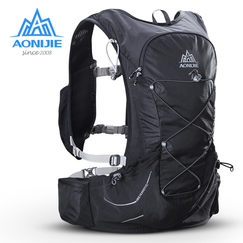 AONIJIE 15L Outdoor Light Weight Hydration Backpack Rucksack Bag Free 2L Water Bladder For Hiking Camping Running Marathon Race