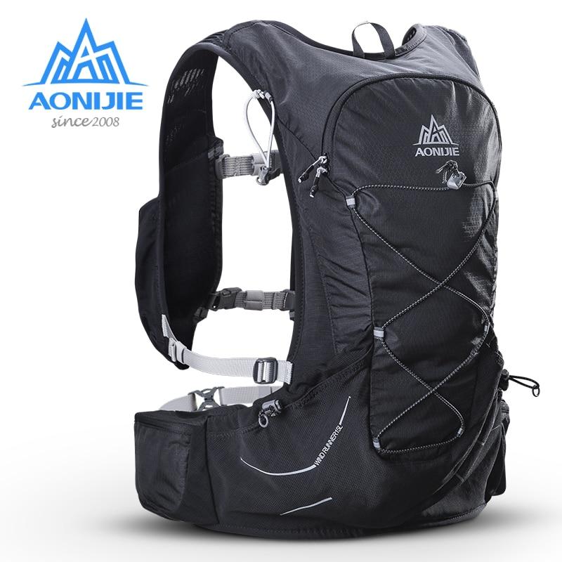 AONIJIE 15L Outdoor Licht Gewicht Trink Rucksack Rucksack Tasche Freies 3L Wasser Blase Für Wandern Camping Lauf Marathon Rennen