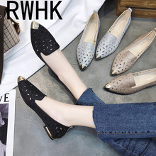 RWHK Pointed flat 2019 summer comfortable versatile shoes womens simple hollow B327