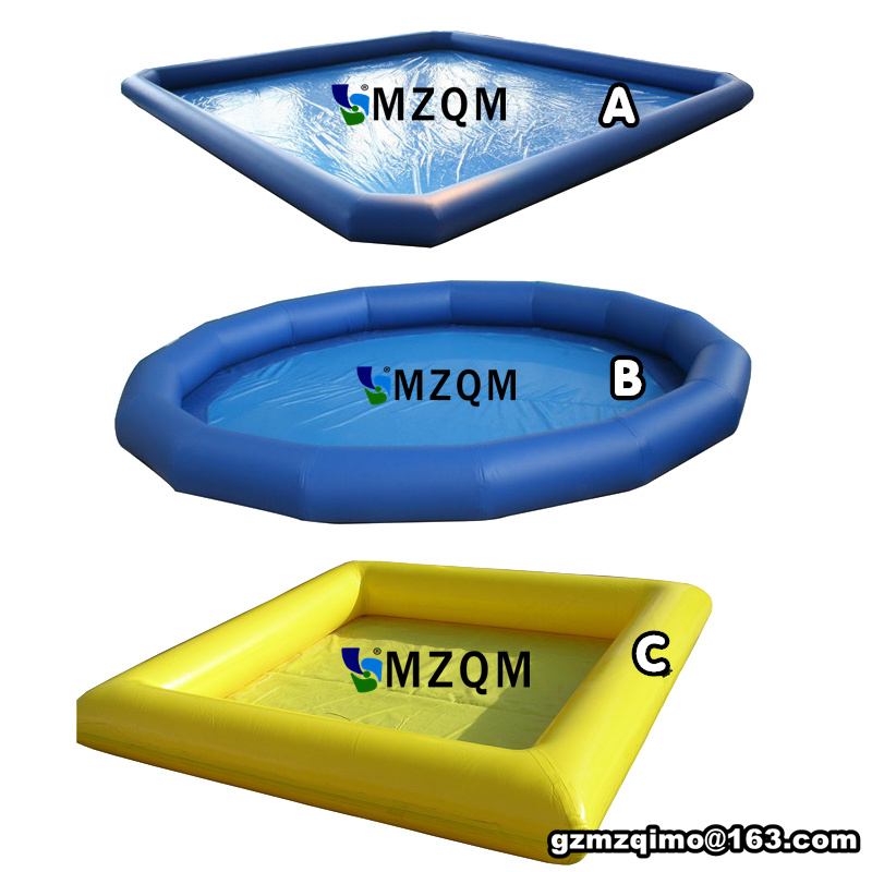 MZQM 6*6m 0.7mm pvc tarpaulin custom mini outdoor inflatable square swimming pool, inflatable deep swimming pool