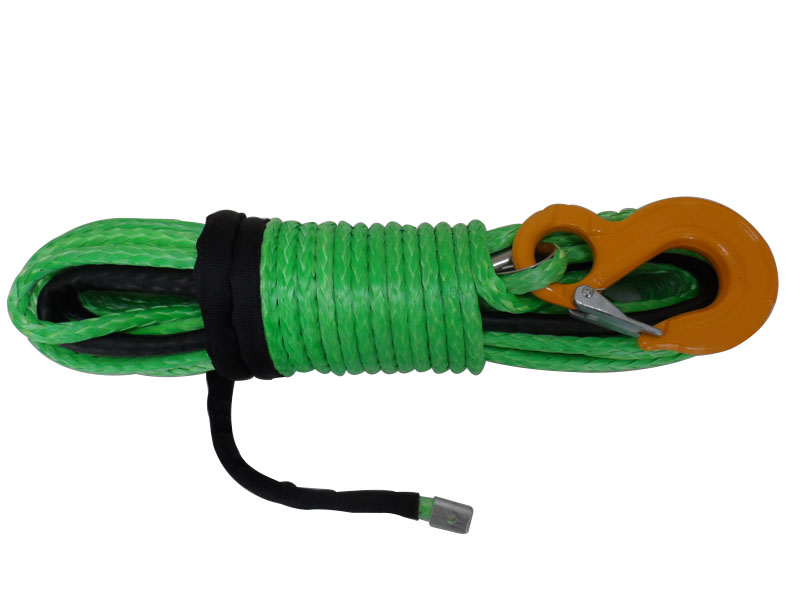 Green  8mm*30m synthetic  winch rope,uhmwpe rope,winch cable for racing,plasma rope 8mm 30m offroad winch rope plasma rope for accessaries winch cable for offroad winch line