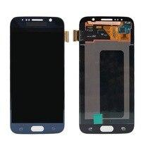Дисплей Сенсорный экран планшета Ассамблеи рамка для SAMSUNG S7 S7 край G930F/G930AVTP смартфон Экран ремонт аксессуары