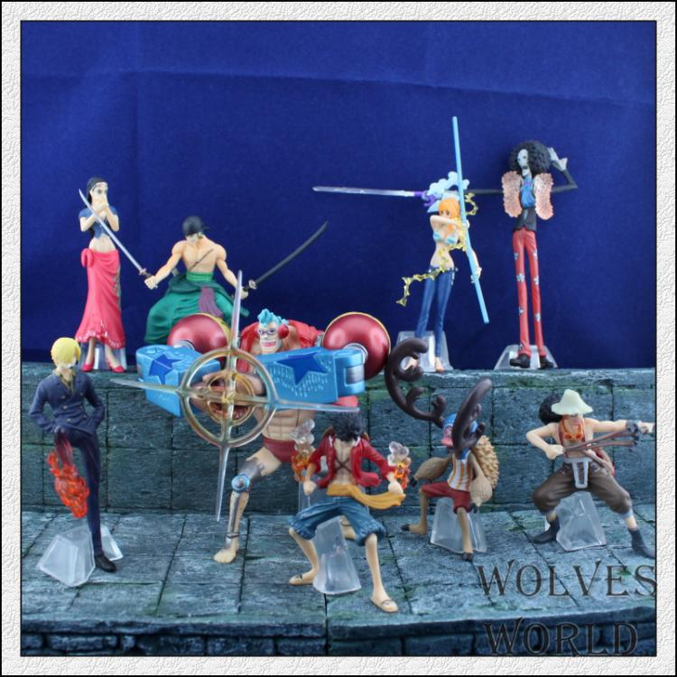 9PCS/LOT Japan Anime One Piece after 2 years PVC action figure Luffy Brook Franky Nami Zoro Sanji Chopper Usopu Collectibles