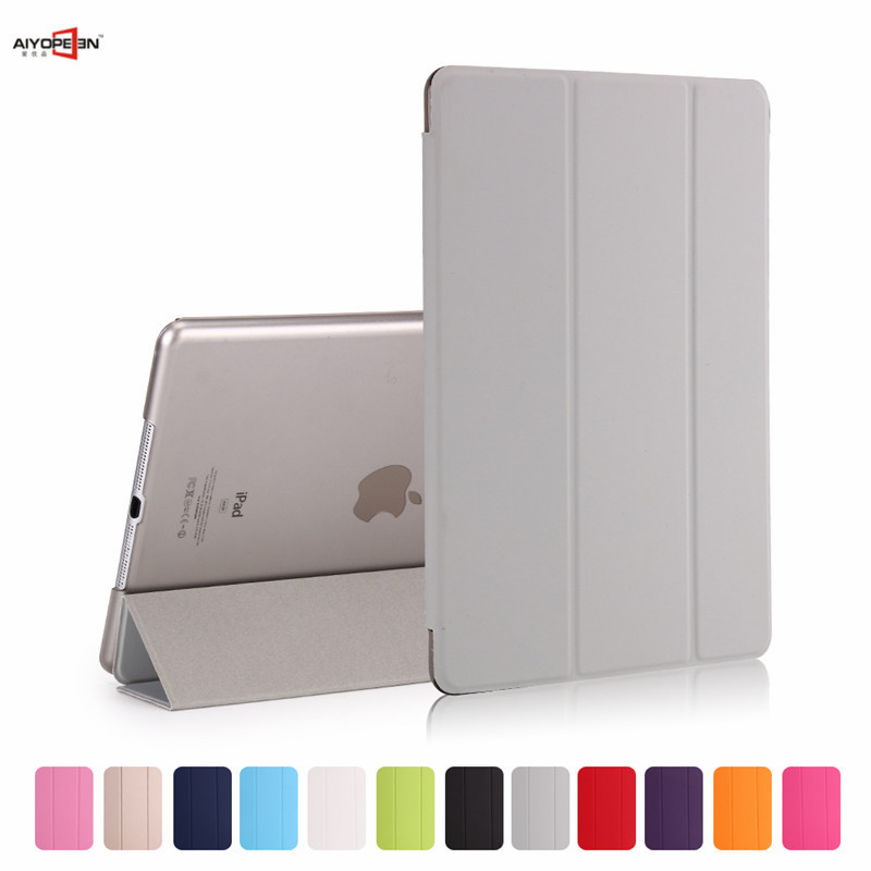 For iPad Air 1 Case pu Leather smart wake up sleep magnetic flip stand with solid tpu back cover Ultra Slim Design nice soft silicone back magnetic smart pu leather case for apple 2017 ipad air 1 cover new slim thin flip tpu protective case