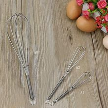 1 PC Hot Egg Beaters Selling Stainless Steel Spiral Whisk Kitchen Tool Egg Cream Stirring for Home Kitchen Butter Mixer Tools(China)