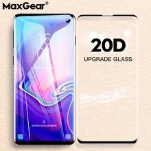 Protector de pantalla de vidrio templado curvado para Samsung Galaxy Protector de pantalla de vidrio templado curvado 20D para Samsung Galaxy S9 S8 S10 Plus E Note 8 9 10 Pro