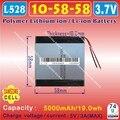 [L528] 3.7V,5000mAH,[105858] PLIB ; polymer lithium ion / Li-ion battery for power bank,tablet pc,DVD,GPS,cell phone