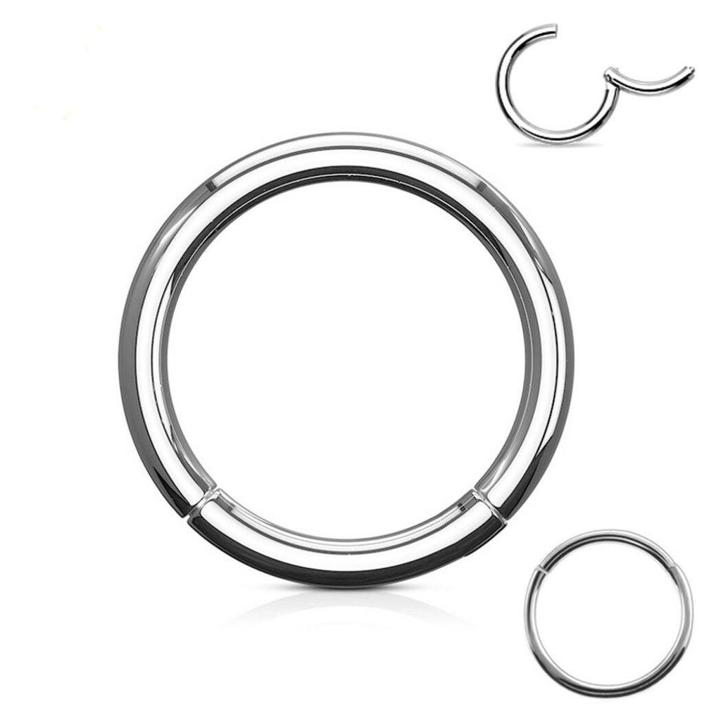 316l Surgical Steel Hinged Piercing Nose Rings Hoop 20g 18g 16g 14g 6mm 7mm 8mm 9mm 10mm 12mm Color Gold Rose Gold Silver Black Body Jewelry Aliexpress